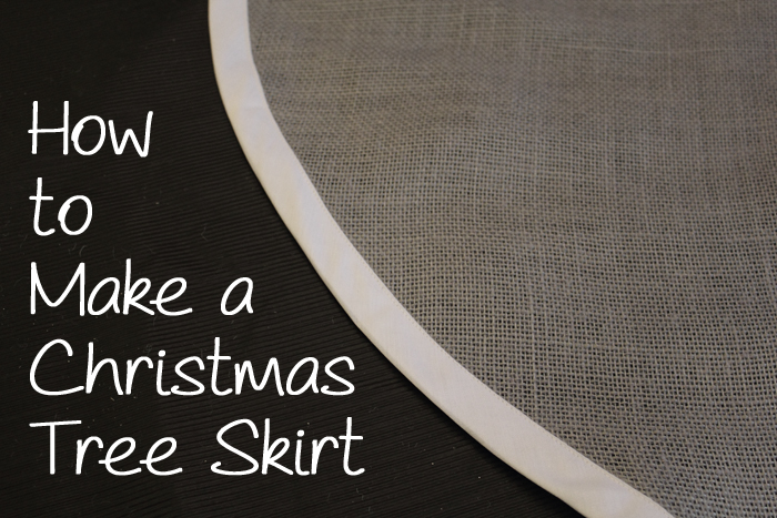 How to Make Your Own Custom Christmas Tree Skirt