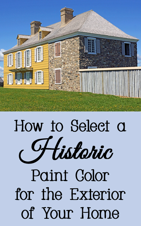 Historic Paint Colors for the Exterior of a Home