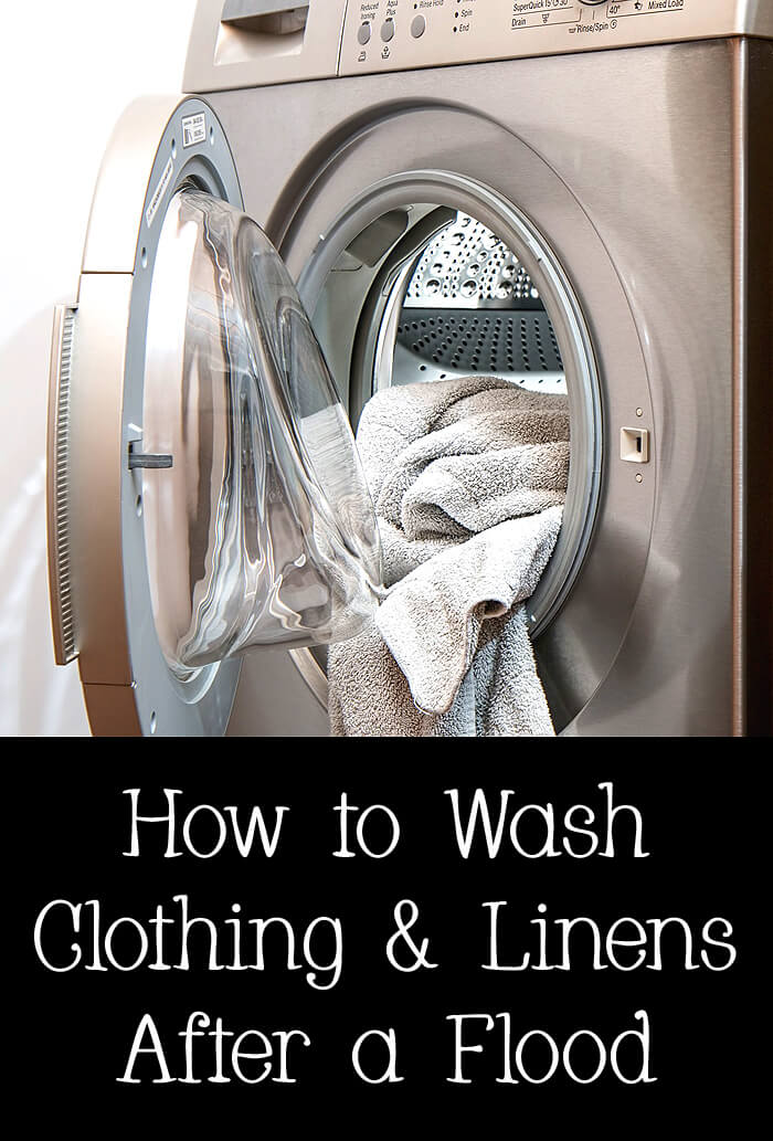 How to wash clothing & linens after a flood