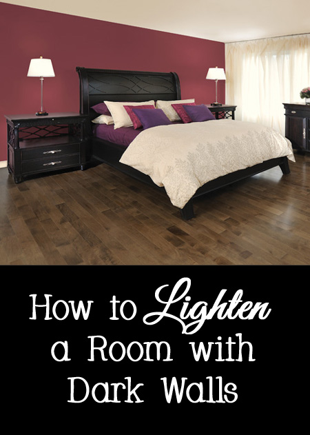 How to Lighten a Room with Black or Dark Walls