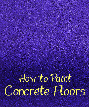 How to Paint Concrete Floors in Your Home