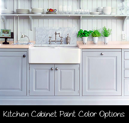 Paint color options for kitchen cabinets