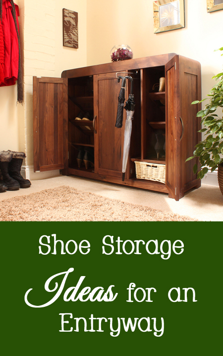 Shoe Storage Ideas for an Entryway or Foyer