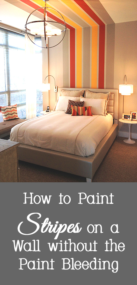 Tips and Tricks for How to Paint Stripes on a Wall without the Paint Bleeding